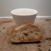 Gelée de foie gras de canard servie tiède, émulsion de cèpes