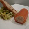 Fondant de saumon roulé, salade à la crème de yaourt citronnée