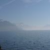 Sur la route longeant le Lac Léman, une étape à Vevey……