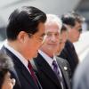 Hu Jintao en visite discrète sur le Pavillon France