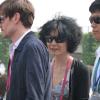 Maggie Cheung, visite éclair sur le Pavillon France…