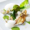 La recette de la semaine : Filet de sole rôti, fleurs de courgette farcies de coques…