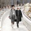 Un buffet fastueux pour le défilé » Paris-Bombay » de la nouvelle collection Karl Lagerfeld pour les métiers d'arts