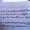 Augmentation de la TVA dans la restauration… McDonald's s'essaye au Fact-Checking