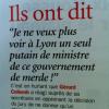 Lyon – Cité de la Gastronomie – Le Gouvernement Ayrault en prend pour son grade !