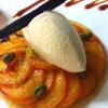 Recette de la semaine : Fine tarte aux abricots de pays, crème d'amande pistache, glace à la réduction de lait
