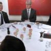 Hollande a dîné deux fois hier soir – Au Chiberta avec Obama, puis à l'Èlysée avec Poutine