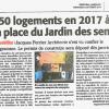 La presse en parle : en 2016 Le Jardin des Sens se déplacera en centre ville