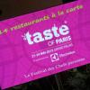 Le premier – Taste of Paris – ouvrira ses portes le 21 mai au Grand Palais