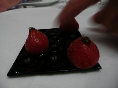 Des fraises au vinaigre