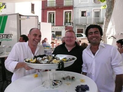 Lionel Albano, Nicolas Méot, M. Comeinhe Fils, et les huîtres du bassin de Thau