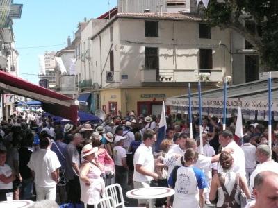 Les rues de Sète en plein jour