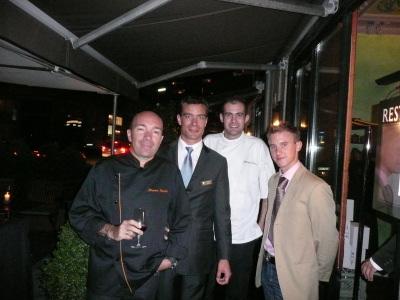 M. Catton Responsable d'exploitation de Eastwest, Philippe second de cuisine au Jardin des Sens, Gaël second de cuisine de Eawtwest