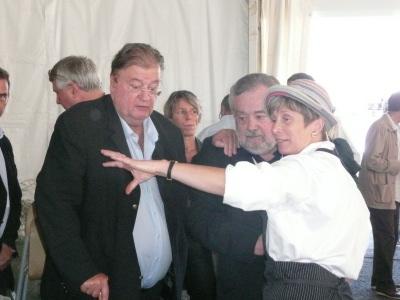 La visite de G. Frêche Président de région