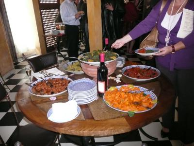 Une idée des nombreux plats qui nous attendaient