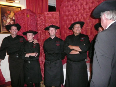 Les chefs avec le traditionnel Béret Basque
