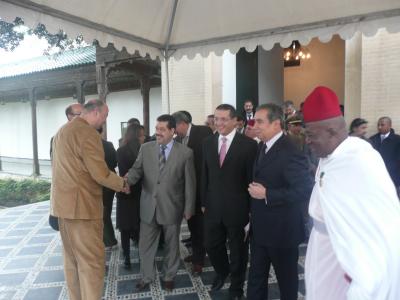 L'arrivée du Ministre du Tourisme