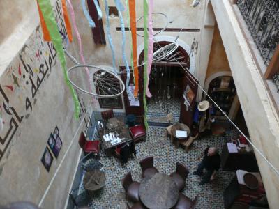Le patio intérieur du CaféClock