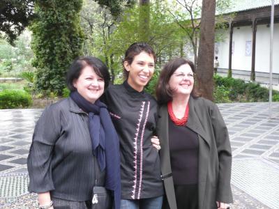 Meryem Cherkaoui et les soeurs Scotto qui elles aussi ont cuisiné pour le Festival