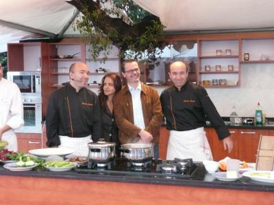 Avec Fatéma Hal et Éric Roux