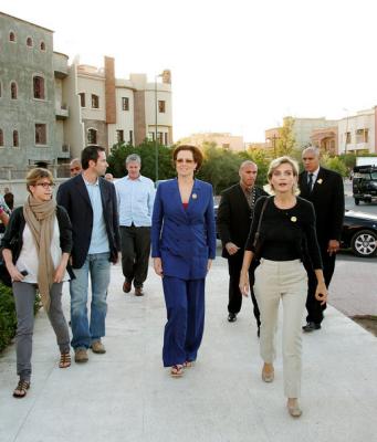 L'arrivée de Sigourney Weaver à Marrakech, précédé par M. Toscan Du Plantier