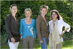 L'équipe de Valérie Lobry ( en bleu ) sur la photo