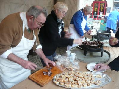 dégustation de coeurs de canards flambés à l'Armagnac