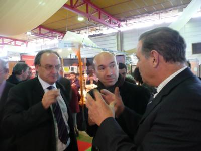 Le Président de la Chambre de Commerce et d'Industrie de Alés, Laurent Pourcel et le Député Maire de Alés