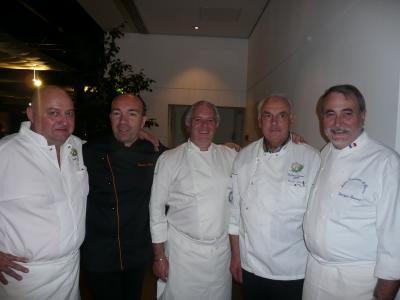 Jean-Pierre Cazals, Jacques Pourcel, Guy Prouhèze, Michel Loustau, Georges Rousset