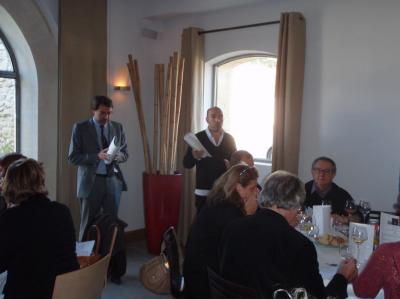 Olivier Château et Jacques Pourcel, Laurent étant en cuisine bien sûr !