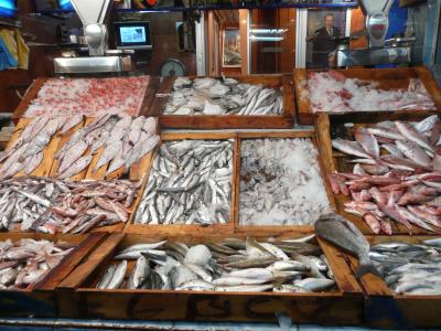 Étalage de poissons