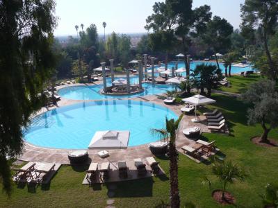 La piscine dont une partie est chauffée à 30° tout l'hiver