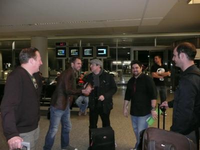 Les Chefs du Supperclub nous accueillent à l'aéroport