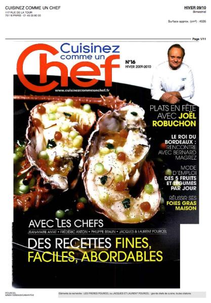 Voir ce mois ci dans cuisine comme un chef chefs for Cuisinez comme un chef