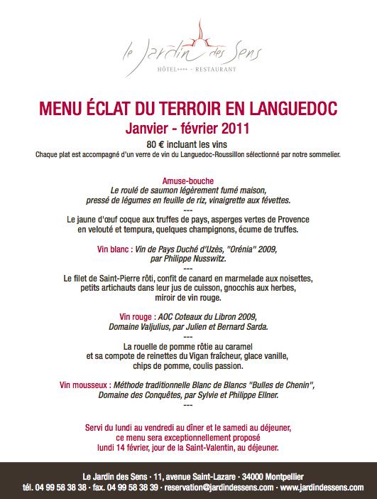 La saint valentin gourmande et romantique au jardin des for Restaurant le jardin neufchatel menus