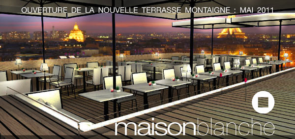 la plus belle terrasse de paris pour maison blanche chefs pourcel blog. Black Bedroom Furniture Sets. Home Design Ideas