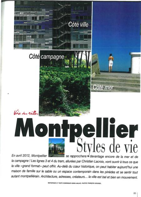 Montpellier style de vie la ville de toutes les cr ations sur la presse d co chefs - Table de jardin zumba montpellier ...