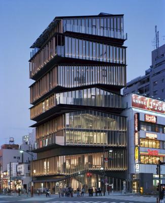 Maison du tourisme de asakusa au japon l architecte - Office des oeuvres universitaires pour le centre ...