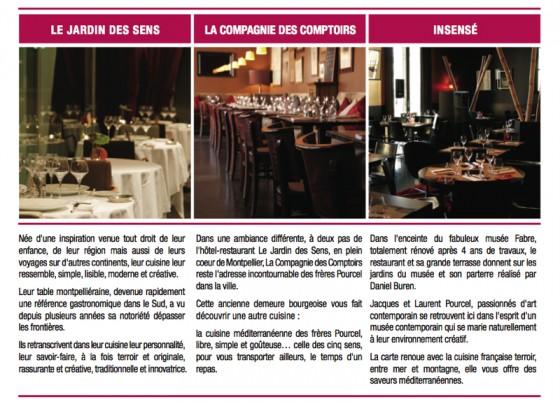 Congr s des notaires de france les restaurants pourcel - Restaurant le jardin des sens montpellier ...