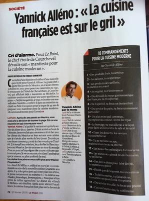 3 grands chefs s expriment sur la cuisine fran aise tat des lieux vision sur son avenir - Blog de cuisine francaise ...