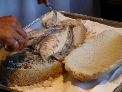 Daurade Pourcel croûte de sel