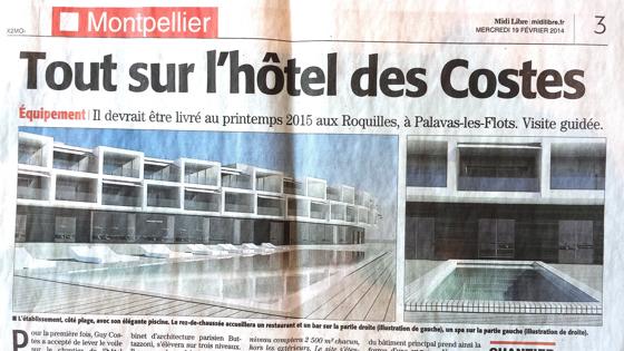 Midi Libre Hotel Costes Palavas
