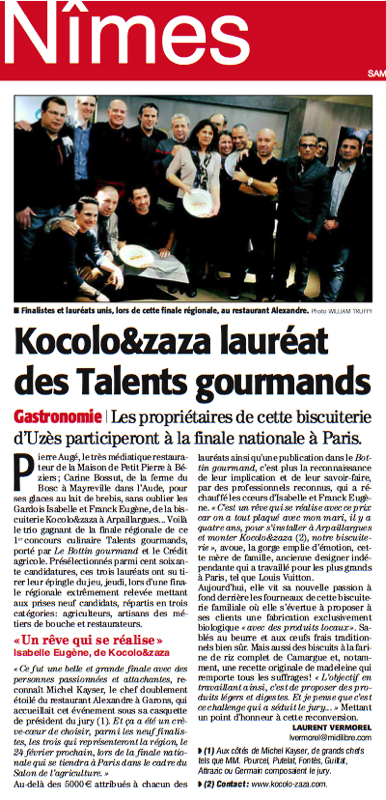 Talents Gourmands Michel Kayser Garons
