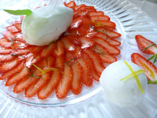 carpaccio de fraises Pourcel