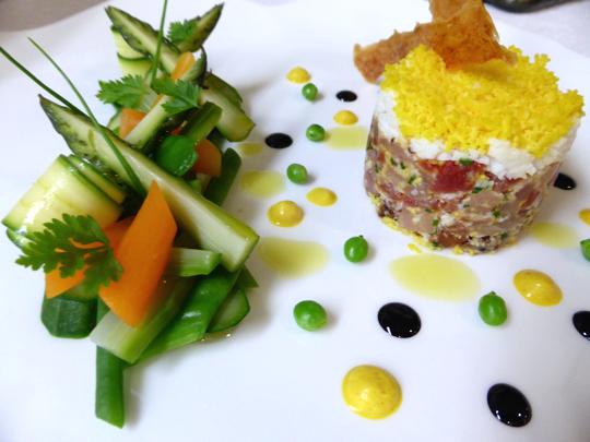 Recette de la semaine tatare de maquereau fa on mimosa for Decoration a l assiette