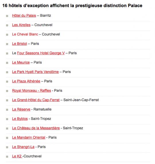 Palaces Français