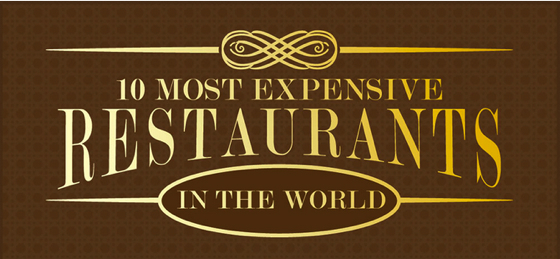 10 of the best and most expensive luxury restaurants in the world