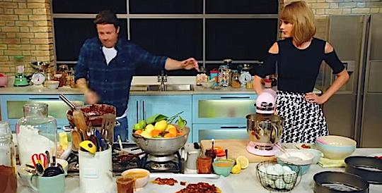 Danse endiabl e en cuisine pour taylor swift et jamie for Cuisinier oliver