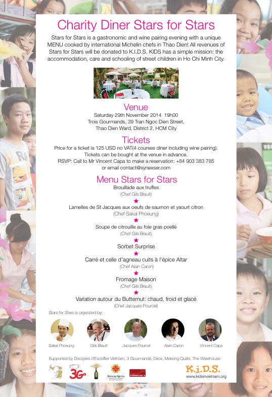 Quatre chefs pour soutenir les enfants des rues de ho chi for Jardin des sens hcmc