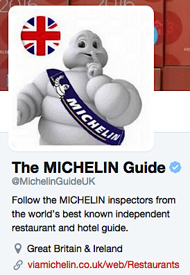 twitter michelin UK